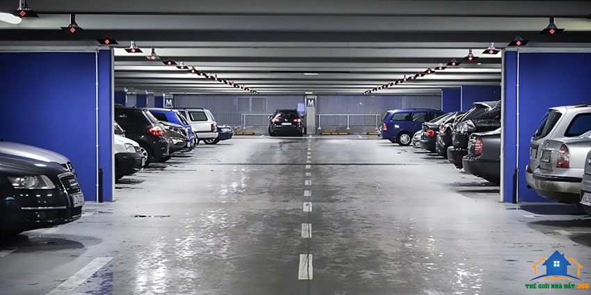 Hầm để xe hiện đại của Viva Riverside