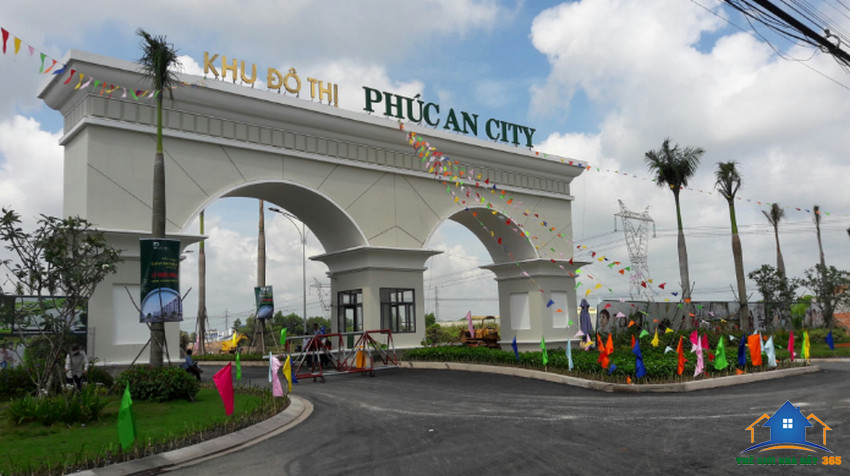 Cổng chào Dự Án Phúc An City – Phúc An Village