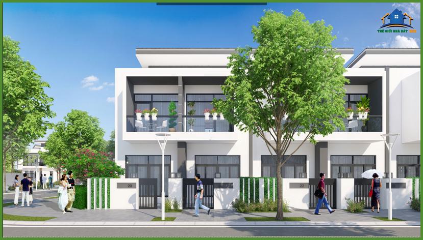 `Phối cảnh dự án Căn Hộ Bella Villa - Khu biệt thư