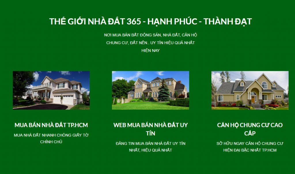 Giới thiệu trang mua bán nhà đất TPHCM THẾ GIỚI NHÀ ĐẤT 365
