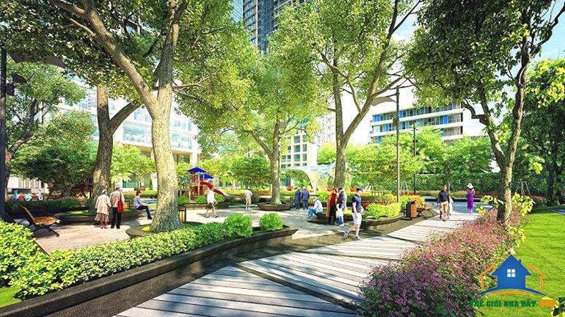 Công viên trong khu căn hộ dự án City Gate 3