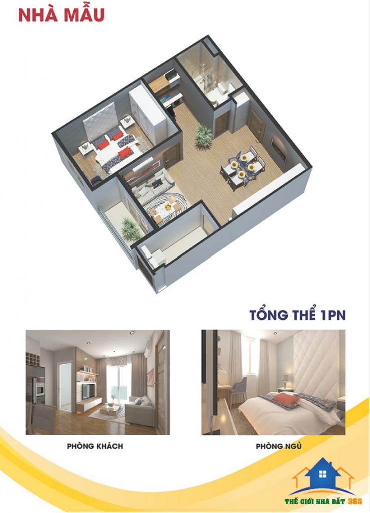 Mẫu thiết kế căn hộ khu căn hộ dự án City Gate 3