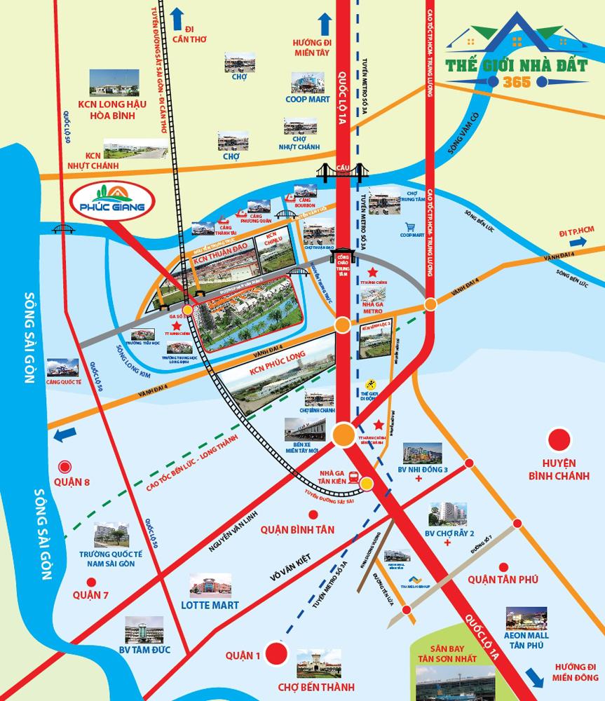 Vị trí Khu đô thị Phúc Giang Graden - Mua bán đất nền đự án Phúc khang graden