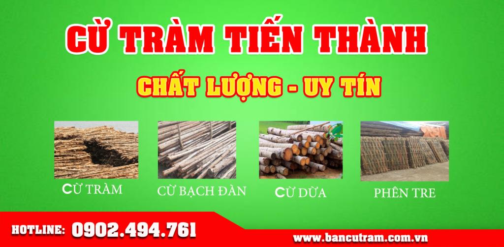Vựa cừ tràm Tiến Thành cung cấp các loại cừ tràm, cừ bạch đàn tại TP.HCM giá rẻ tại